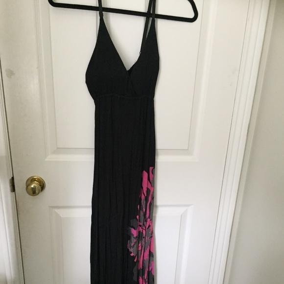 Summer spaghetti strap long dress